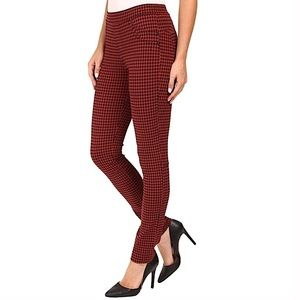 SANCTUARY rust red & black checkered grease pants